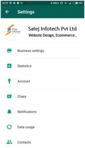 WhatsApp Business Settings 172x300